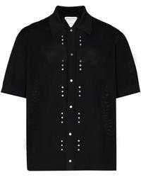 Bottega Veneta Декорированная Рубашка Поло - Черный