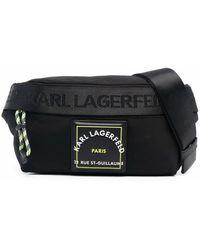 Karl Lagerfeld ロゴ ベルトバッグ - ブラック