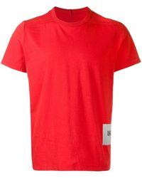 Rick Owens クラシック Tシャツ - レッド