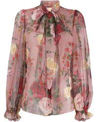 Dolce & Gabbana - Blusa con estampado de rosas - Lyst