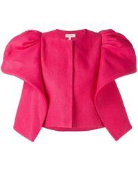 Delpozo Structured Shoulder Jacket - Pink