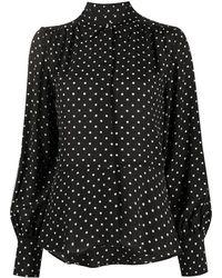 MSGM Рубашка В Горох - Черный