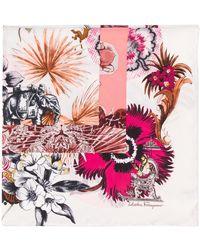 Ferragamo Sjaal Met Bloemenprint - Meerkleurig