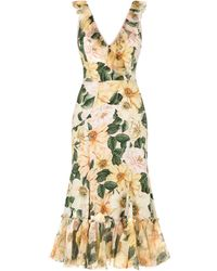 Dolce & Gabbana フローラル ドレス - イエロー