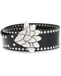 Isabel Marant Leather Studded Belt - Black