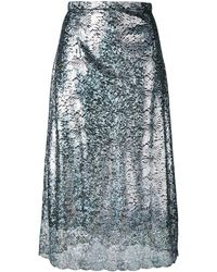 Christopher Kane Lace Foil Skirt - Metallic