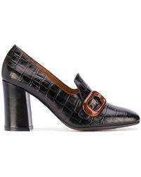 Chie Mihara Radis Crocodile-effect Loafers - Black