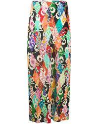 RIXO London Kelly パッチワーク スカート - グリーン