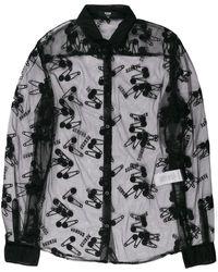 Versus Camisa transparente con motivo - Negro
