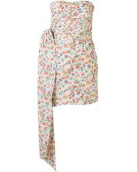 Tory Burch Платье Мини С Цветочным Принтом - Многоцветный