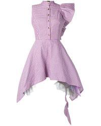 Natasha Zinko - Deconstructed Gingham Dress - Lyst