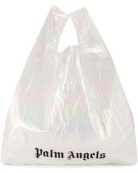 Palm Angels Shopper mit Logo - Weiß