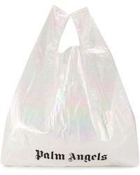 Palm Angels Logo-print Shopping Bag - White