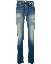 DIESEL Faded Bleached Jeans - Синий