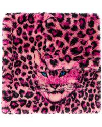 Alberta Ferretti レオパード スカーフ - ピンク
