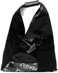 MM6 by Maison Martin Margiela パッチワークプリント ハンドバッグ - ブラック
