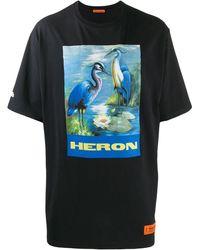 Heron Preston T-Shirt mit grafischem Print - Blau