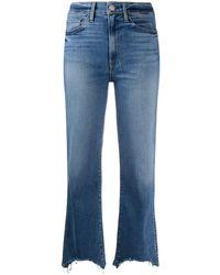 3x1 Raw Hem Jeans - Blue