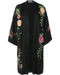 Alice + Olivia - Floral Embroidered Cape - Lyst