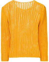 Jacquemus Gebreide Trui - Oranje