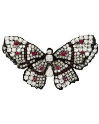 Ermanno Scervino Butterfly Brooch - Metallic
