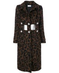 Au Jour Le Jour - Leopard Print Cut Out Coat - Lyst