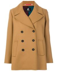 PS by Paul Smith - Oversized Lapels Peacoat - Lyst