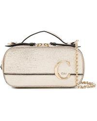 Chloé Mini C Vanity Cross-body Bag - Metallic