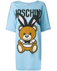 Moschino - Playboy Teddy T-shirt Dress - Lyst