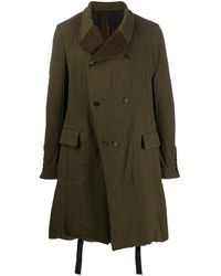 Masnada Flared double-breasted coat - Vert