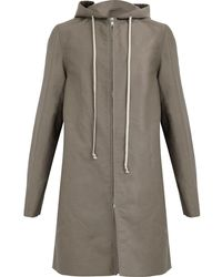 Rick Owens - Single-breasted Zipped Coat - Lyst