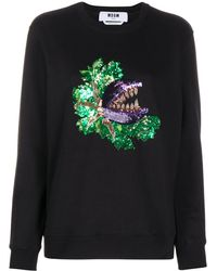 MSGM スパンコール スウェットシャツ - ブラック