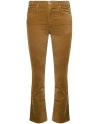 AG Jeans - Jodi Flared Cropped Jeans - Lyst