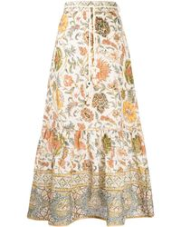 Zimmermann Gonna con stampa paisley - Multicolore