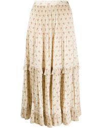 Polo Ralph Lauren フローラル プリーツスカート - ナチュラル