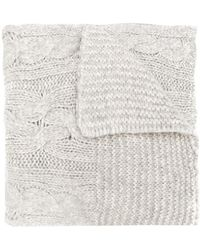 Woolrich - Cable Knit Scarf - Lyst