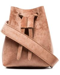 Nanushka Minee Velvet Belt Bag - Brown