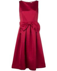 P.A.R.O.S.H. - Empire Line Bow Dress - Lyst