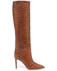 Paris Texas Knee High 85mm Stiletto Boots - Brown