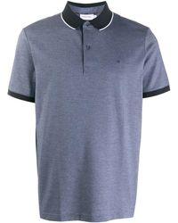 Calvin Klein Poloshirt Met Logo - Blauw