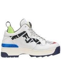 Fendi - Multicolour Zucca Panel Platform Sneakers - Lyst