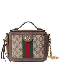 Gucci Мини-сумка На Плечо Ophidia GG - Коричневый