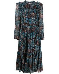 Ulla Johnson フローラル ドレス - ブルー