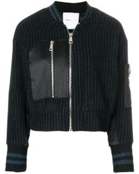 Isabelle Blanche - Fitted Striped Bomber Jacket - Lyst