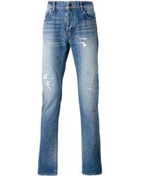 Saint Laurent Classic distressed jeans - Blu