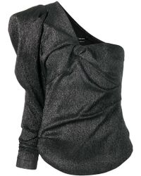 Isabel Marant - Top métallisé à design asymétrique à une épaule - Lyst