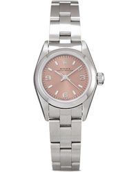Rolex 1997 Pre-owned Oyster Perpetual Lady Horloge - Roze