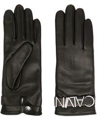 Calvin Klein Handschuhe mit Logo - Schwarz
