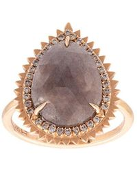 Eva Fehren - Stone Embellished Ring - Lyst