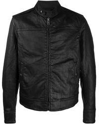 DIESEL JoggJeans Denim Biker Jacket - Black